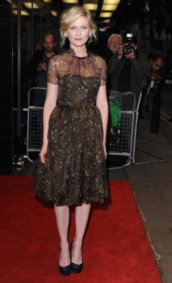"#7942522 Actress Kirsten Dunst attends the premiere of ""Melancholia"" at Curzon Mayfair on September 28, 2011 in London, England. Restriction applies: USA ONLY - NO NEW YORK NEWSPAPERS Fame Pictures, Inc - Santa Monica, CA, USA - +1 (310) 395-0500"
